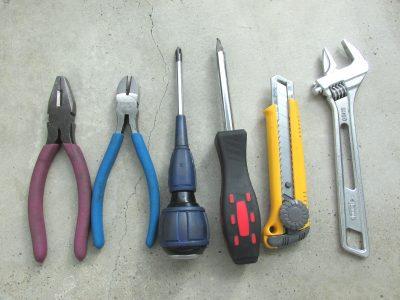 災害ボランティア持ち物(工具類)