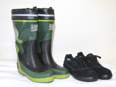 長靴と安全靴