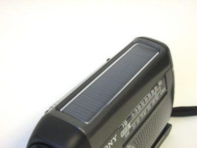 防災ラジオー太陽電池