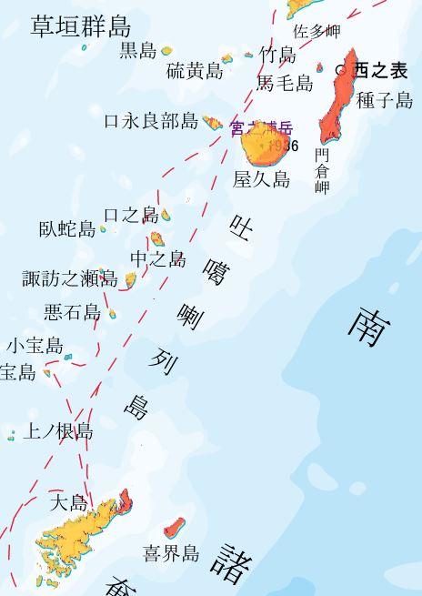 地震動予測地図 トカラ列島