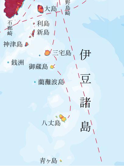 地震動予測地図 伊豆諸島