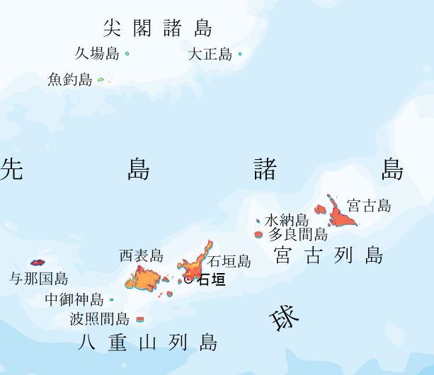 地震動予測地図 先島諸島