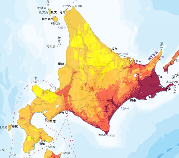 地震動予測地図 北海道エリア