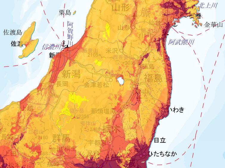 地震動予測地図 東北エリア2
