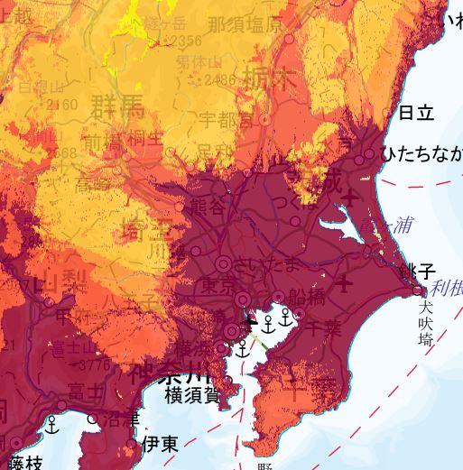 地震動予測地図 関東エリア